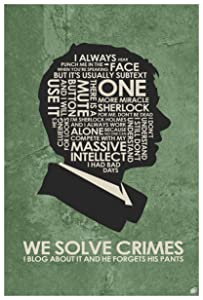 "Sherlock Holmes. Doctor Watson: WE Solve Crimes. Art Print Poster (12"" x 18"") by Artist Stephen Poon."