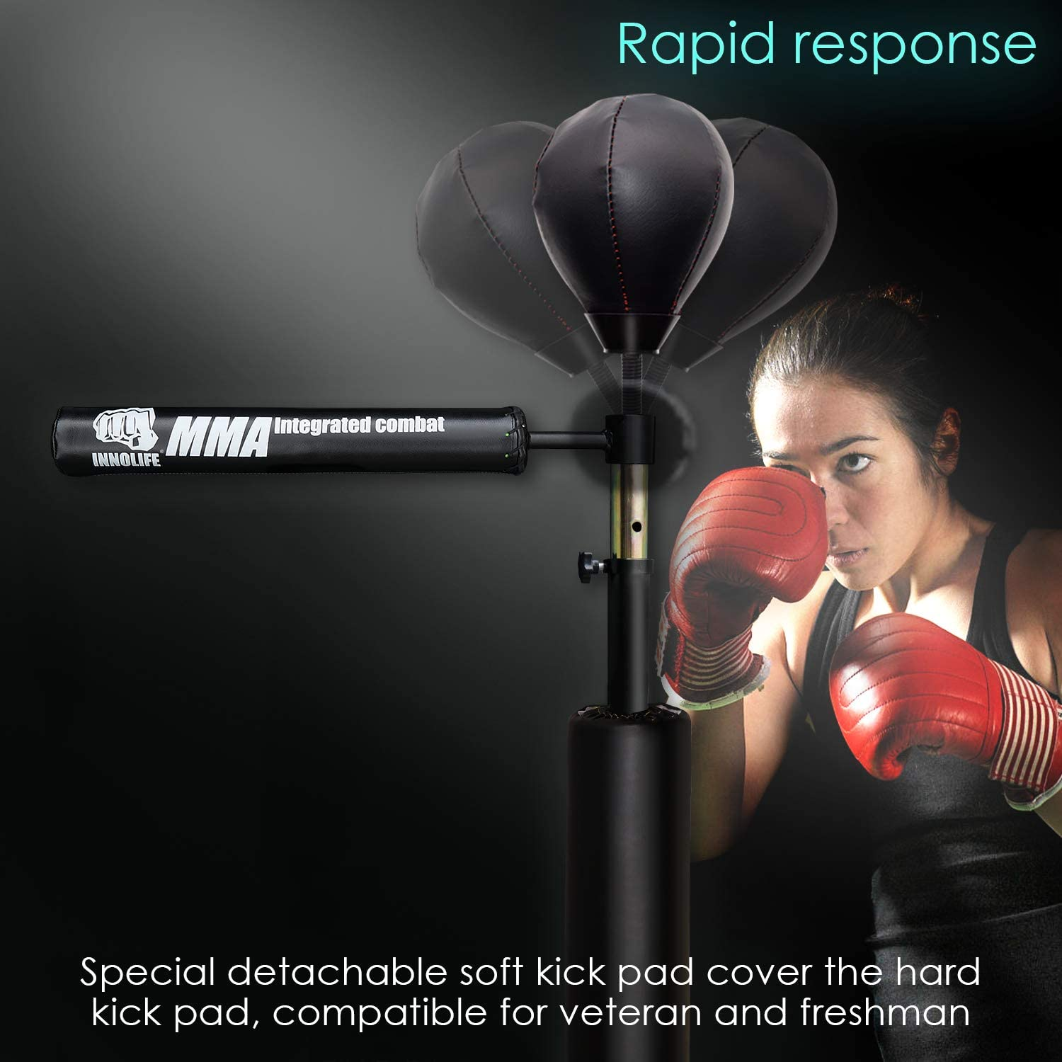 INNOLIFE MMA Boxing Speed Trainer Punching Spinning Bar with Dual Punch Head : Sports & Outdoors