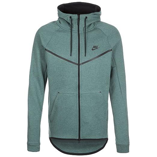 40aa9cd903 Nike Men s Sportswear Tech Fleece Windrunner Hoodie Heather Black  805144-386 (SIZE