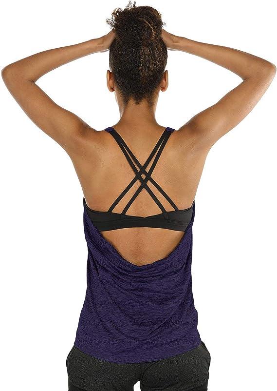 con cerniera a 1//4 traspirante donhobo Canotta sportiva da donna corsa senza maniche per yoga fitness