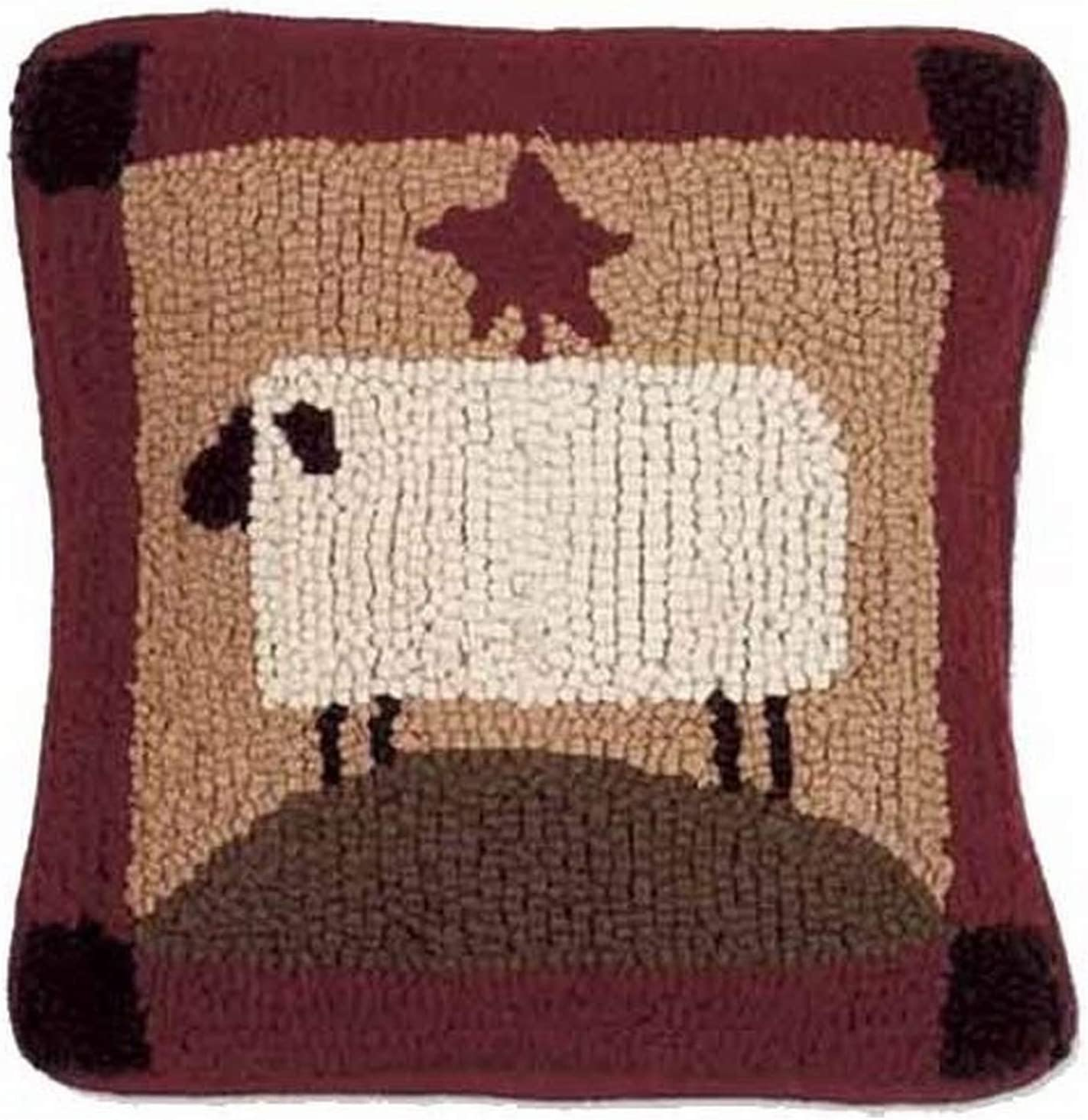 """Home Collection by Raghu Sheep Nutmeg Pillow, 14 by 14"""", Multicolor"""
