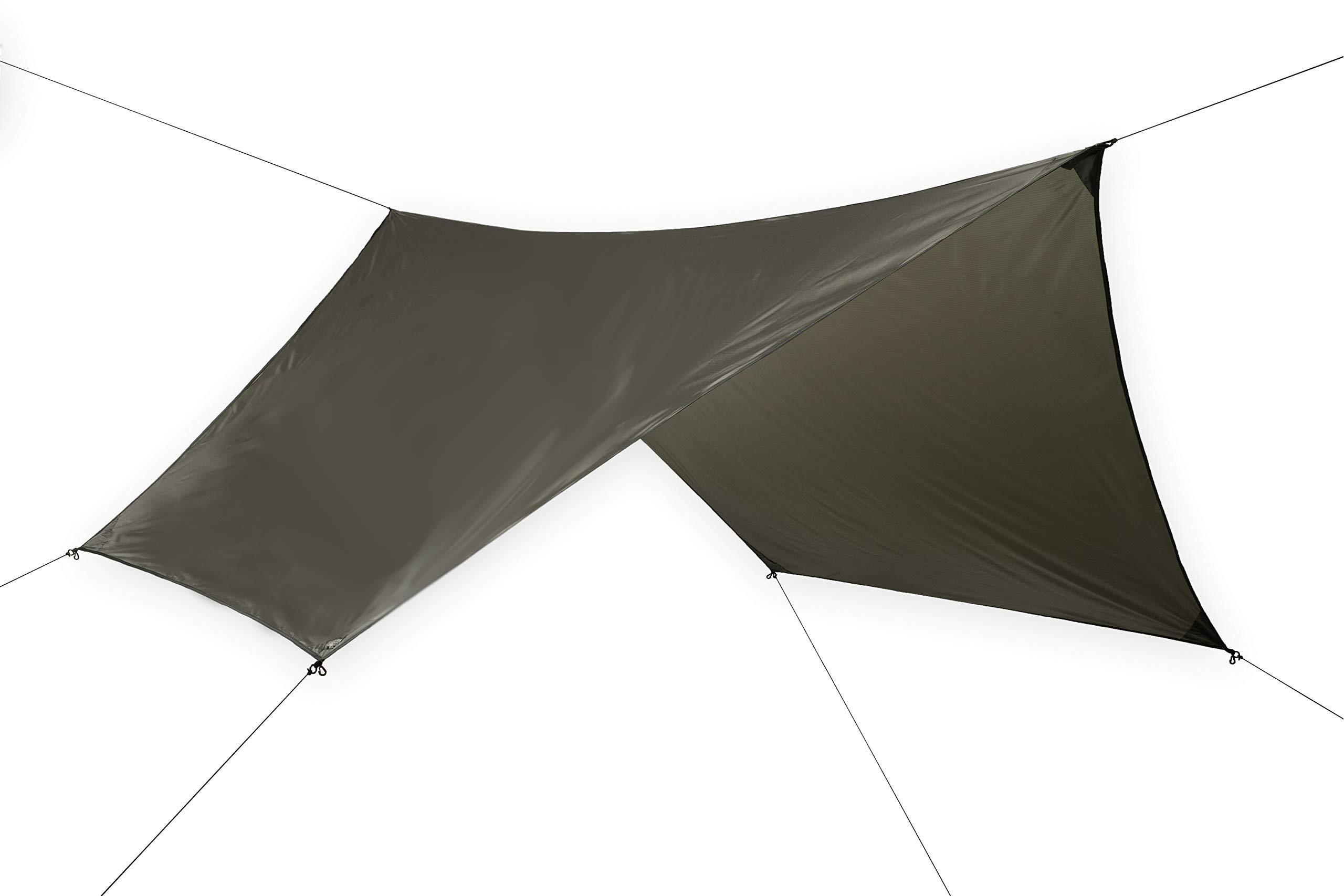 FREE SOLDIER Camping Tarp Waterproof 3m x 3.3m Large Hammock Tent Tarp Portable Tarpaulin Anti-UV Shelter Sun Block Sunshade Awning for Camping Hiking Traveling Outdoor Sports