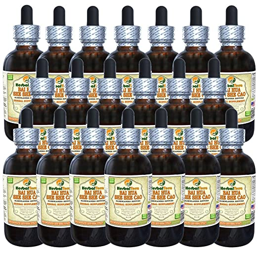 Amazon.com: Bai Hua She She Cao (Oldenlandia Diffusa) Glycerite, Dried Roots Alcohol-FREE Liquid Extract 2 oz: Health & Personal Care