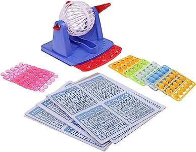 Fenteer Juego de Mesa de Bingo Lotería Máquina Juguete: Amazon.es: Juguetes y juegos