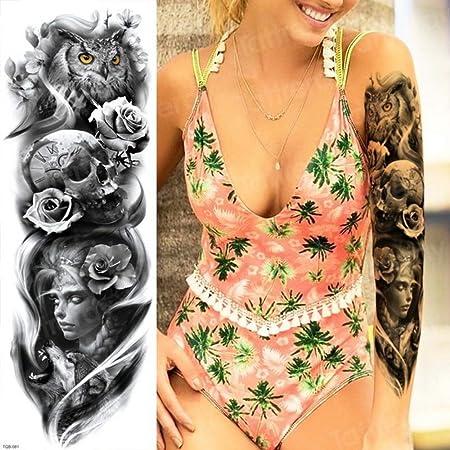 Tatuaje femenino tatuado Etiqueta engomada del cuerpo impermeable ...