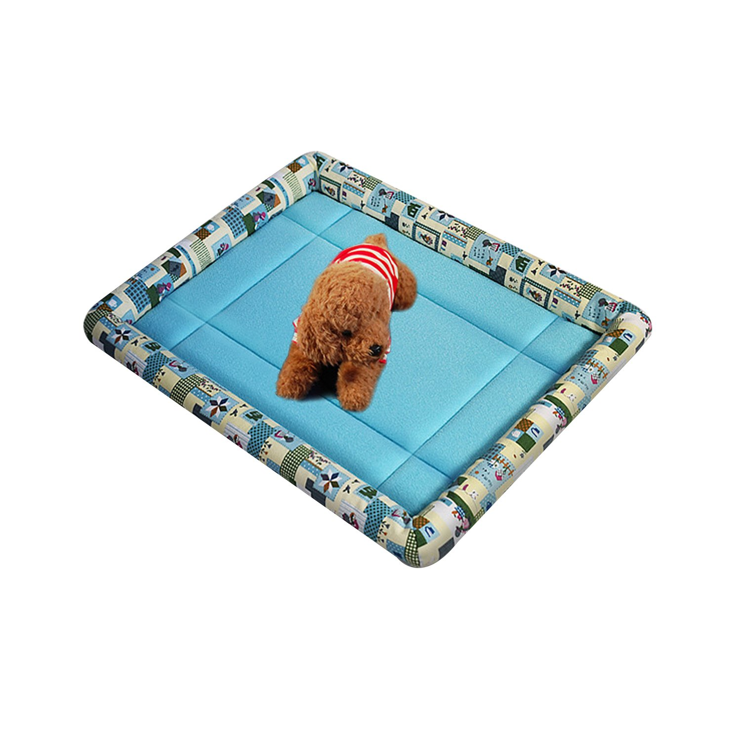 Pet Bed with Non Skid Bottom Mattress for Dogs and Cats Padded Pet Bolster Bed 70%OFF