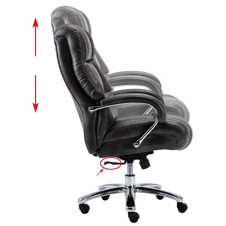 Marvelous Amazon Com Lyon Big Tall Overstuffed Faux Leather High Back Creativecarmelina Interior Chair Design Creativecarmelinacom