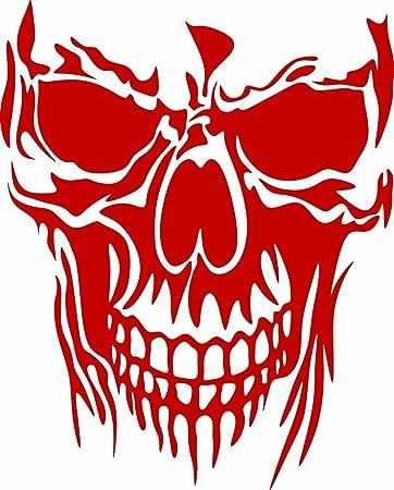 Skull death like rose flower Rear Window Decal Sticker Pick-up Truck SUV Car 3