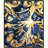 "Doctor Who Throw Blanket - Exploding TARDIS Pandorica Fleece - 50"" x 60"" Afghan"