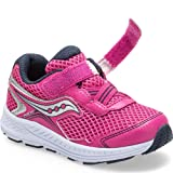 Saucony Girls' Ride 10 JR Sneaker, Pink/Silver, 10