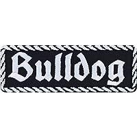 Bulldog patch, biker, opstrijkbaar, hond, motorfiets, strijkplaatje, rocker sticker, heavy metal, cadeau voor mannen…