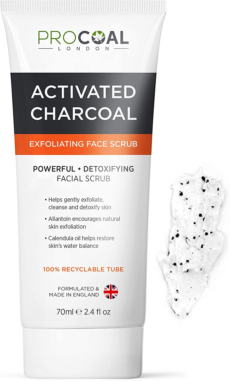 Face Scrub Premium Exfoliating Charcoal Face Scrub 70ml By