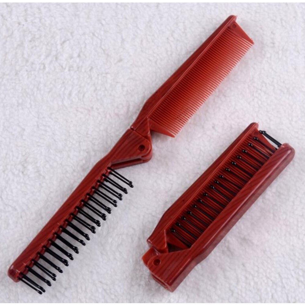 Small Travel Hair Comb, HOYOFO Folding Plastic Dual Hair Brush Pocket Comb Quanzhou Trading