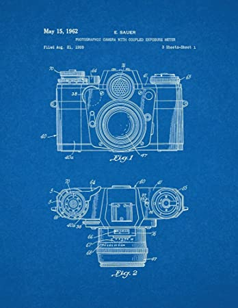 Amazon photographic camera with coupled exposure meter patent photographic camera with coupled exposure meter patent print art poster blueprint 11quot malvernweather Images