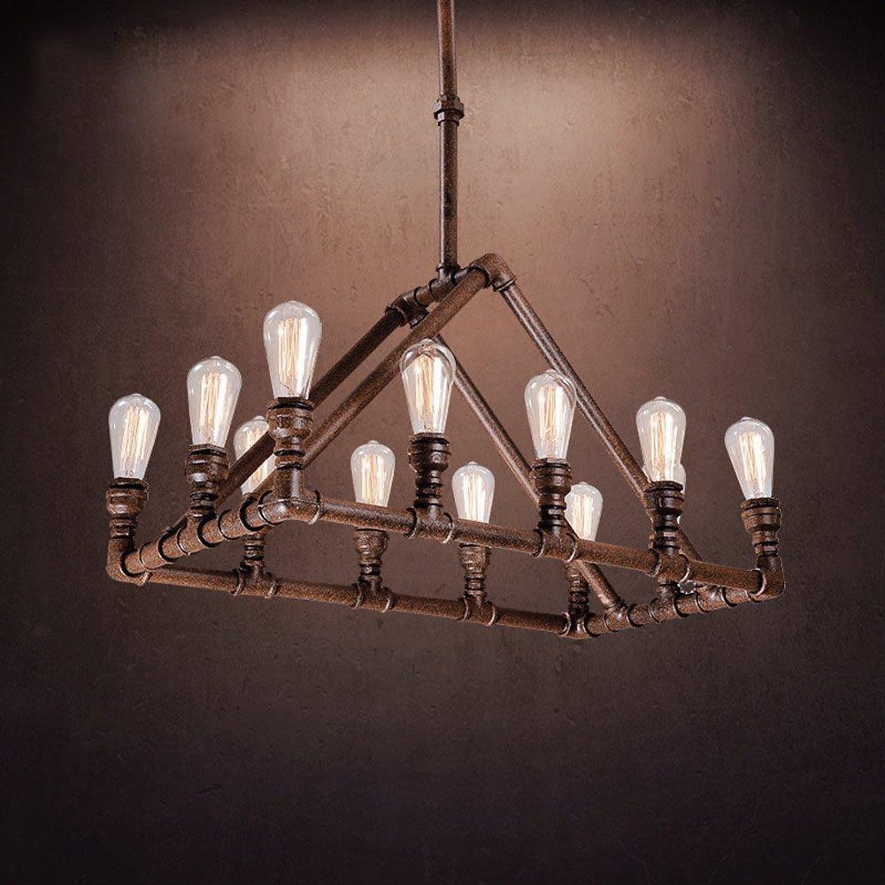 Industrial retro vintage antique pipe chandelier litfad 32 28 1