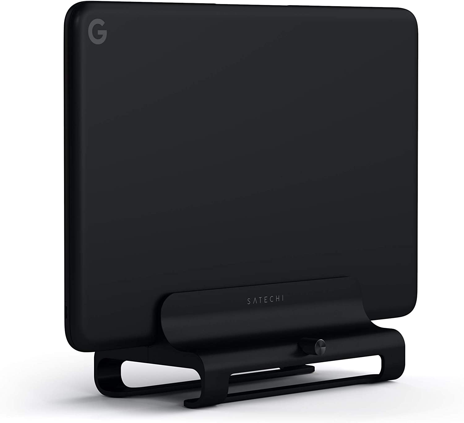 Satechi Universal Vertical Aluminum Laptop Stand - Compatible with MacBook, MacBook Pro, Dell XPS, Lenovo Yoga, Asus Zenbook, Samsung Notebook and More (Jet Black)