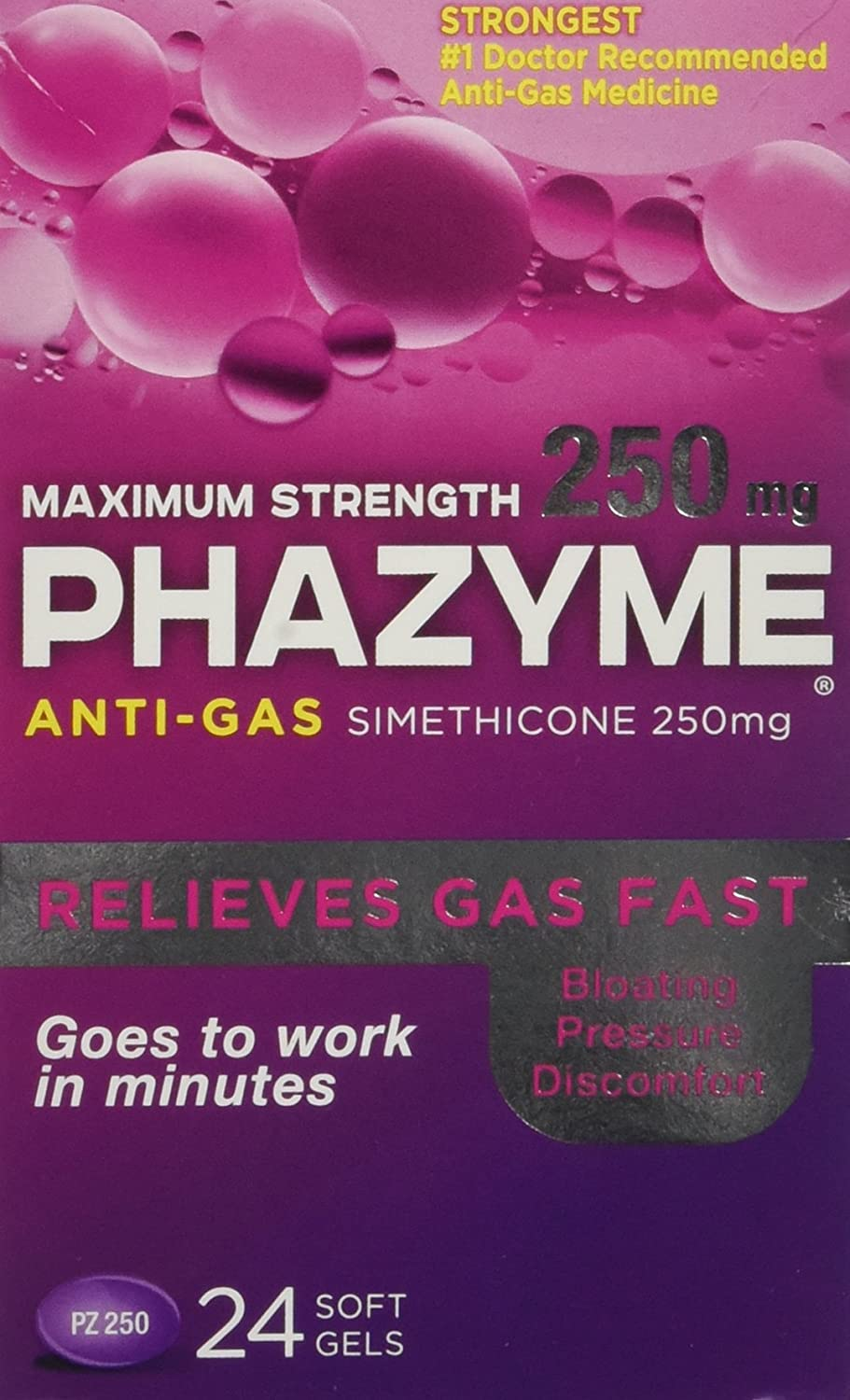 Phazyme Maximum Strength Gas Relief, 24 Softgels