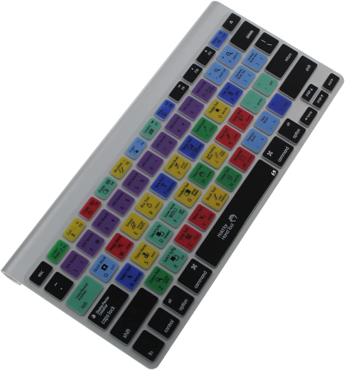 Litop Thin Photoshop English Shortcuts Hot Keys PS Silicone Keyboard Cover Skin Protection for Apple 13 15 17 MacBook Air Pro with//Without Retina Wireless Keyboard US Layout