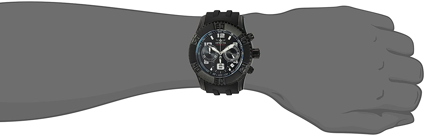 Amazon.com: Invicta Mens Sea Spider Quartz Stainless Steel and Polyurethane Casual Watch, Color:Black (Model: 22454: Watches