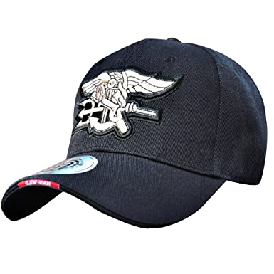 29718c4126d HANWILD Navy Seal Baseball Hat Embroidered Adjustable Navy Seal Cap Logo