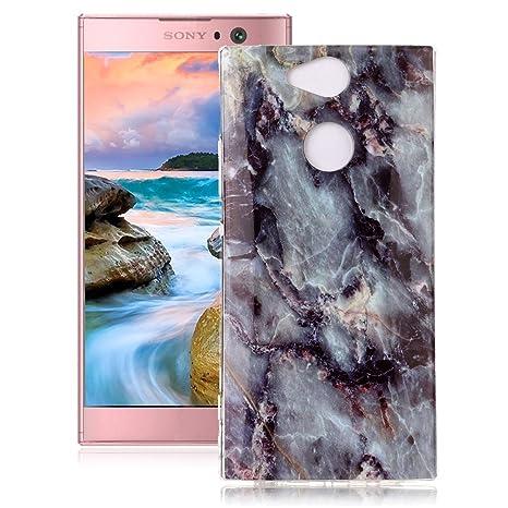 Yunbaoz Funda Sony Xperia XA2 Mármol Soft Marble Case Textura Piedra Natural Suave Liso Flexible Anti-Rasguños Patrón Granito Carcasa Sony Xperia XA2 ...