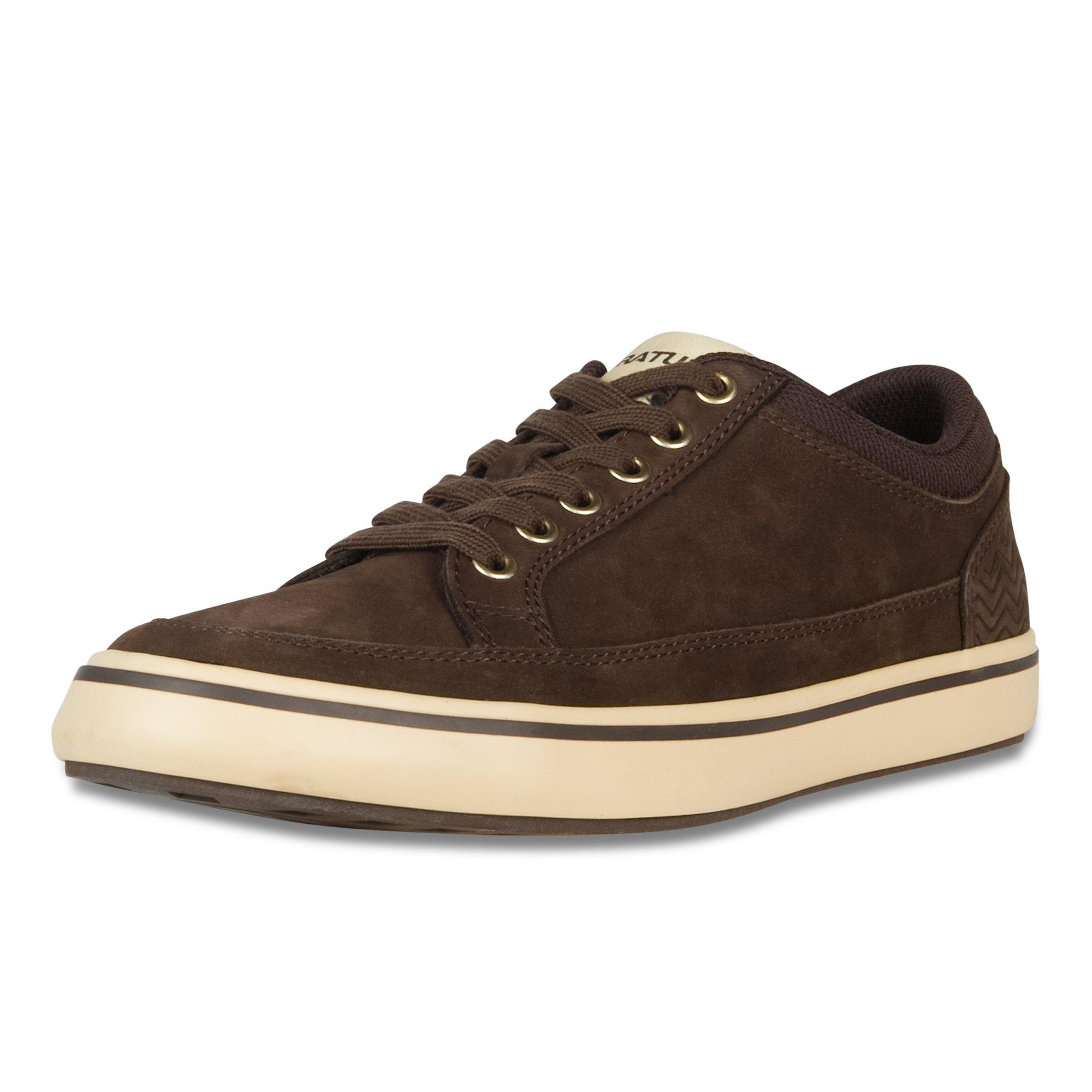 XTRATUF Chumrunner Men's Nubuck Leather Deck Shoes, Chocolate (22401)