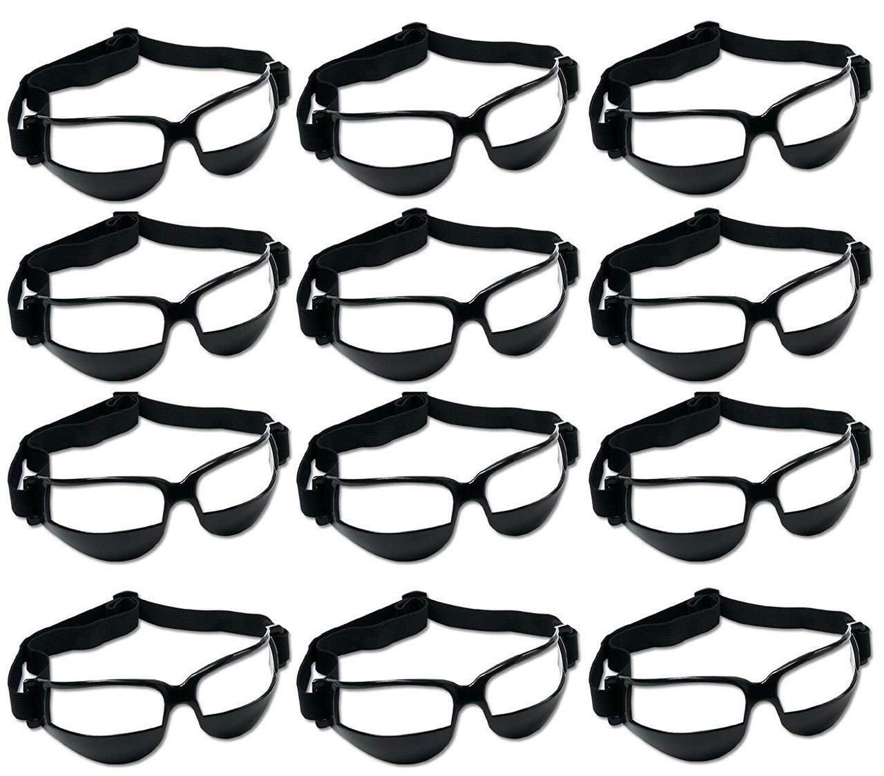 Pack of 12 Murray Sporting Goods Basketball Dribble Goggles Training Aid