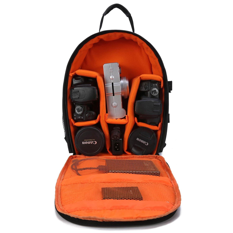Purple - small Selighting Camera Backpack Waterproof DLSR Rucksack Bag Shockproof SLR Case with Tripod Holder