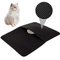 HOVNEE Estera de arena para gatos impermeable alfombra de basura rascadores Cat Litter Mat Litter Trapping doble capa no tóxico