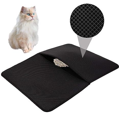 Cat Litter,Estera de Arena para Gatos Impermeable Alfombra de Basura rascadores Cat Litter Mat
