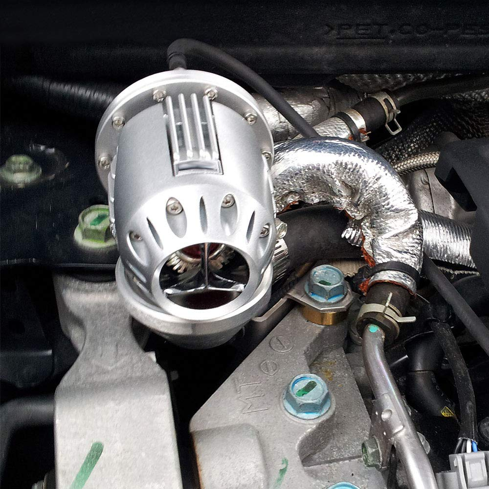 New Universal BOV SQV 4 SSQV IV Car Turbo Pull Type Blow Off Valves JDM W// 2.5 Adapter Flange Black