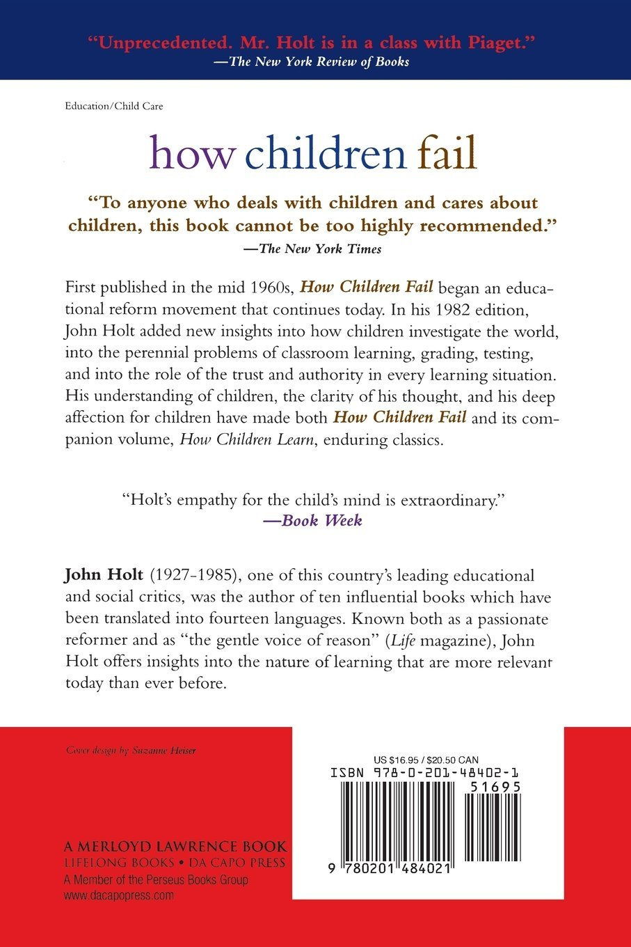 How To Help Kids Learn To Fail >> How Children Fail Classics In Child Development John Holt