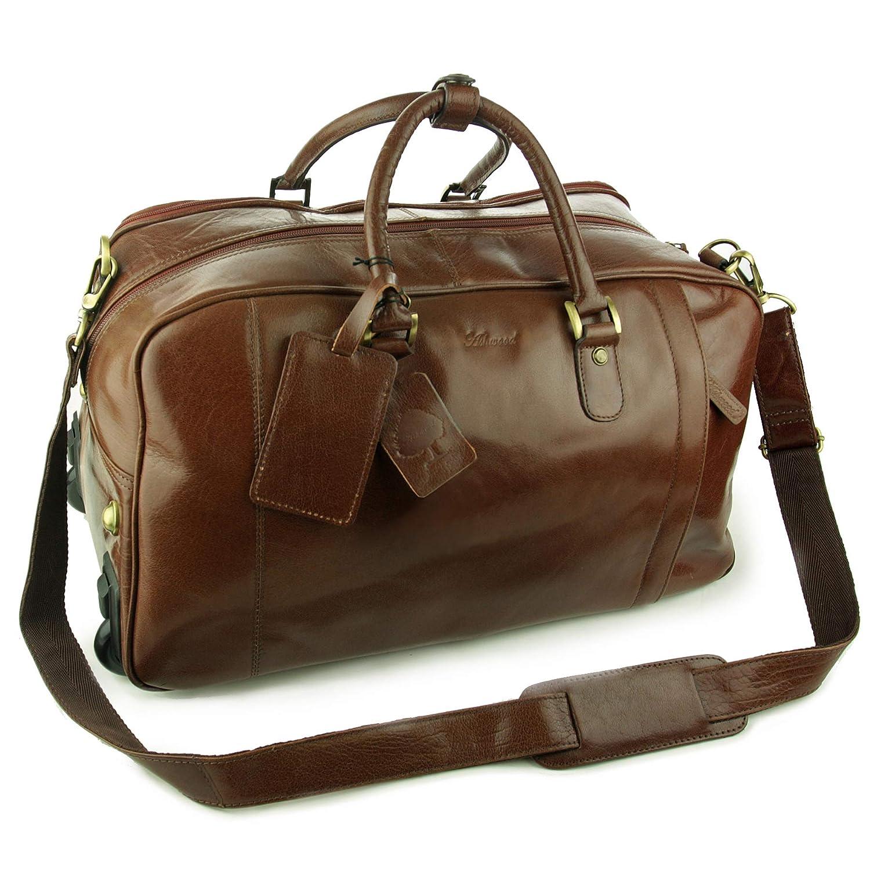 e289e0ac3 Ashwood Wheeled Holdall - Albert - Leather, Chestnut, L: Amazon.co.uk:  Shoes & Bags