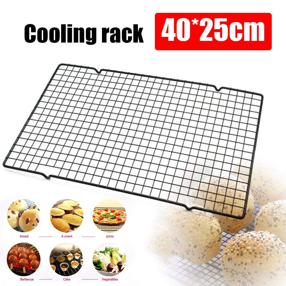 Househome Stainless Steel Cool Rack, 15.7 * 10 Inch Cooling and Roasting Rack for Cookies, Cakes, Grilling, BBQ - Heavy Duty Rust-Resistant