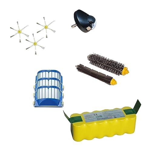 Batería de 4500 mAh + Kit de rueda delantera + cepillos y filtros ...