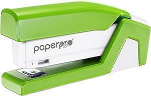 PaperPro inJOY20 - 3 in 1 Stapler - One Finger, No Effort, Spring Powered Stapler - Green (1513)