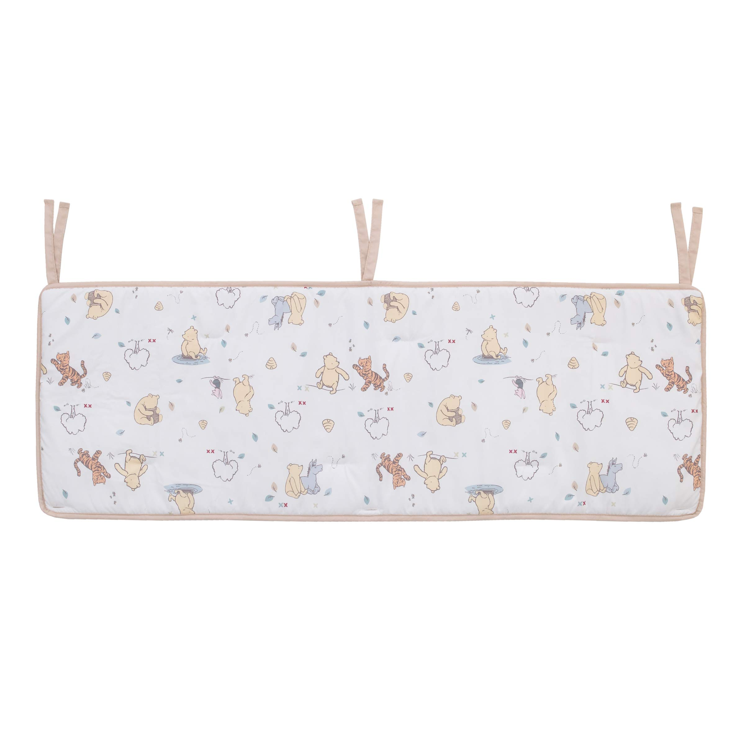 Disney Winnie The Pooh Crib Rail Guard Cover with Ties by Disney