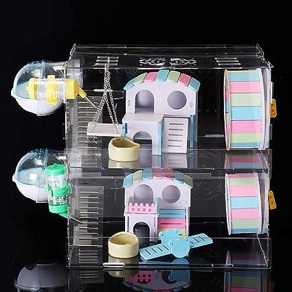 Amazon com: ZUINIUBI DIY Pet Cage DIY Hamster Acrylic Sheet