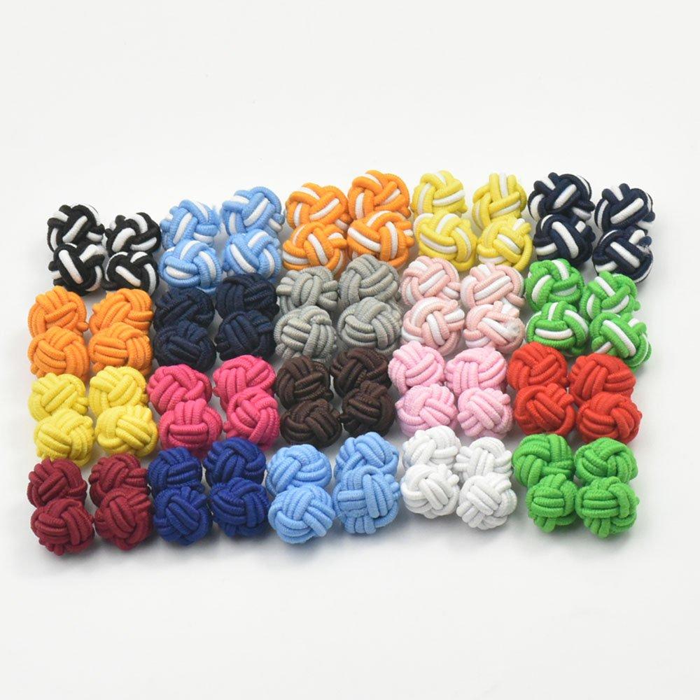 20 Pairs New Silk Knot Cufflinks Cuff Links Blank Pad MIx color micoshop