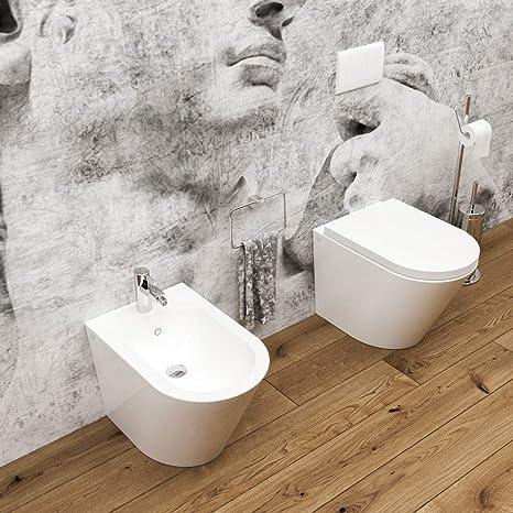Sedile Bidet Per Wc.Coprivaso Sedile Bidet Arco Sanitari Bagno Sospesi Filomuro Ceramica
