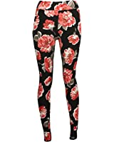 Click Selfie Womens Skinny Stretch Floral Knitwear pants