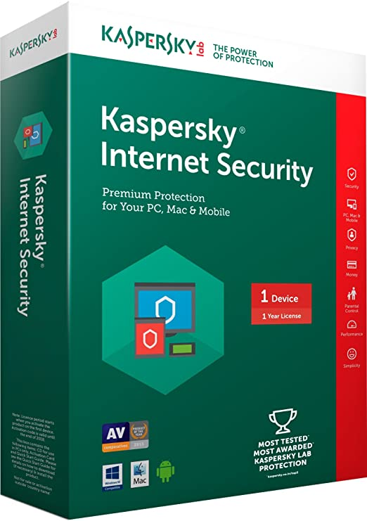 Kaspersky Internet Security Latest Version- 1 PC, 1 Year (CD)-Best-Popular-Product