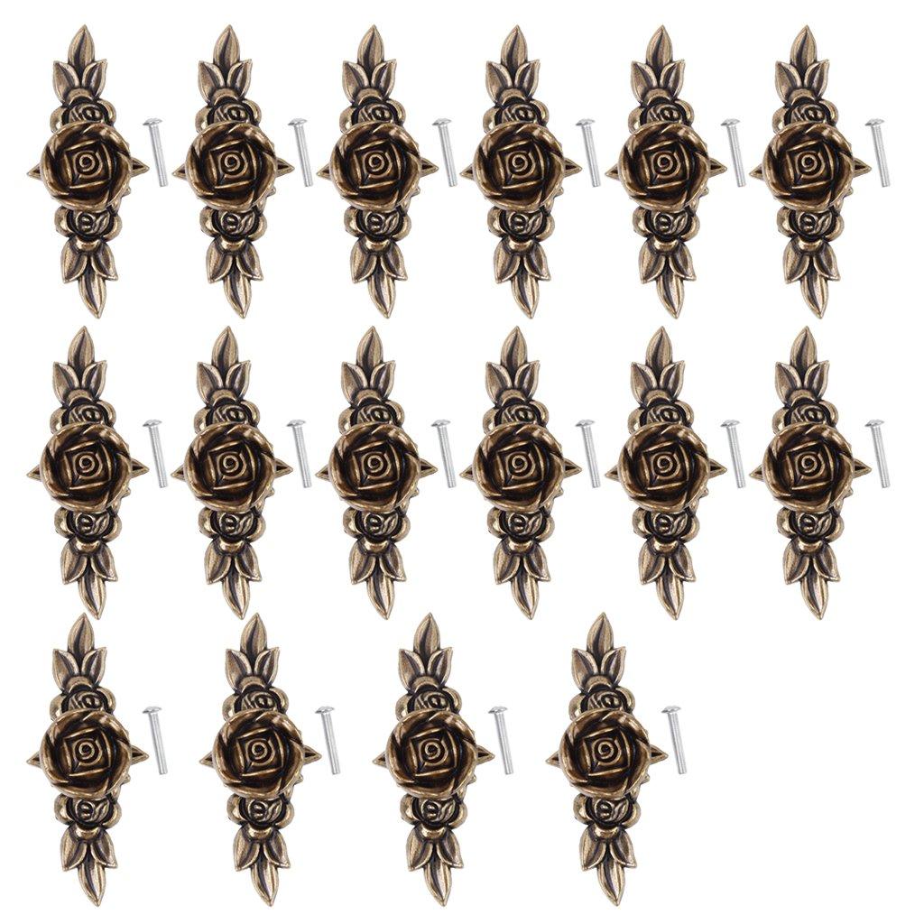 Homyl 16 Piezas Estilo Retro Manija de Tiradores de Aleació n de Zinc de Puerta Gabinete Decoració n de Muebles