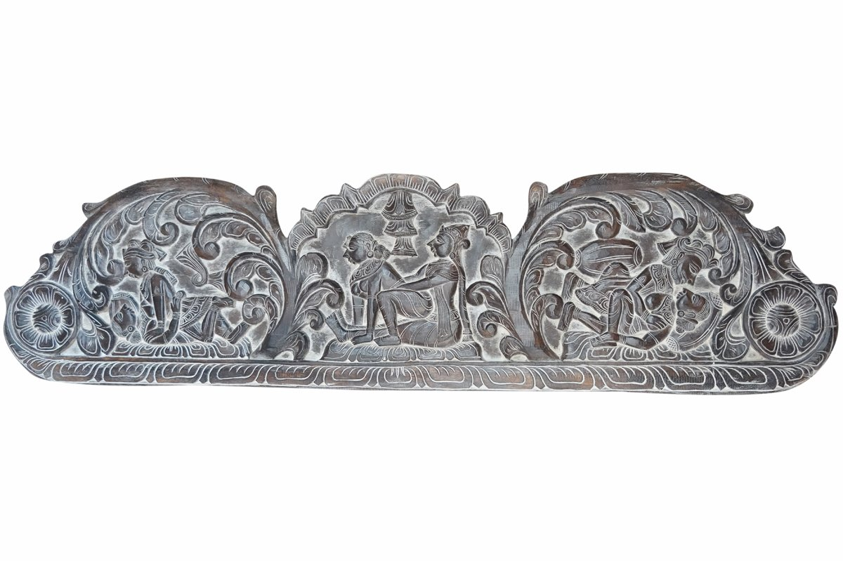 Vintage Headboard Hand Carved Love Kamasutra Love Desore Eclectic Interior Design Decor