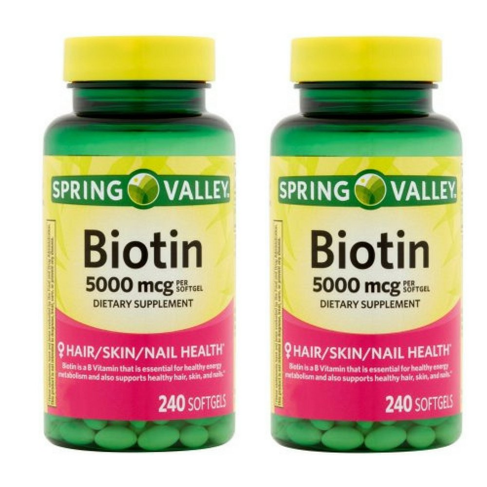 Spring Valley - Biotin 5000 mcg, 240 Softgels by Spring Valley (Pack of 2)