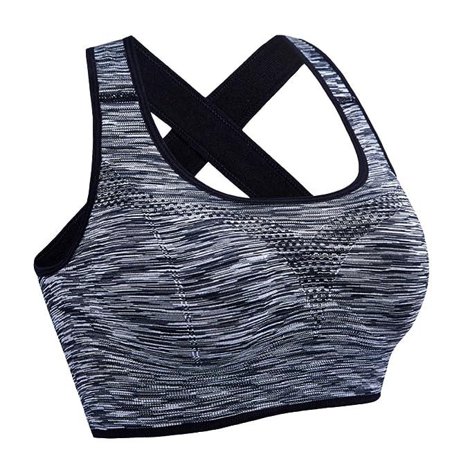 Mujeres Sujetador Deportivo con Relleno Push up Top Tank para Yoga Correr Fitness: Amazon.es: Ropa y accesorios