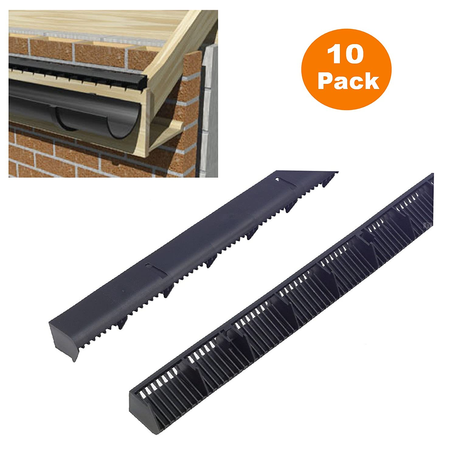 10 x 1 metre over fascia vents for roof eaves ventilation 10mm