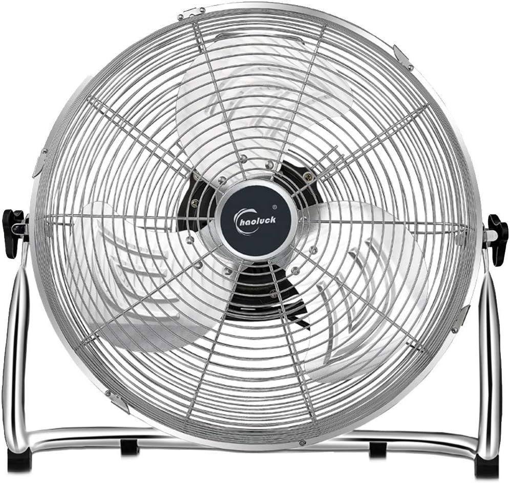 Ventilador Industrial, Enfriador de Metal Ventilador de enfriamiento Silencio Silencioso Suelo de pie Ventilador de Gimnasio hidropónico con Carcasa metálica