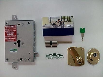 Kit de cerradura para puerta blindada, de cilindro europeo, para puerta Dierre con placa