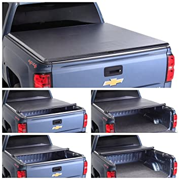 For 2015 2018 Ford F150 8ft Truck Long Bed Soft Vinyl Roll Up Tonneau Cover Auto Parts And Vehicles Truck Bed Accessories Magenta Cl